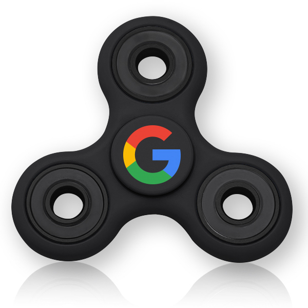 fidget spinner with logo